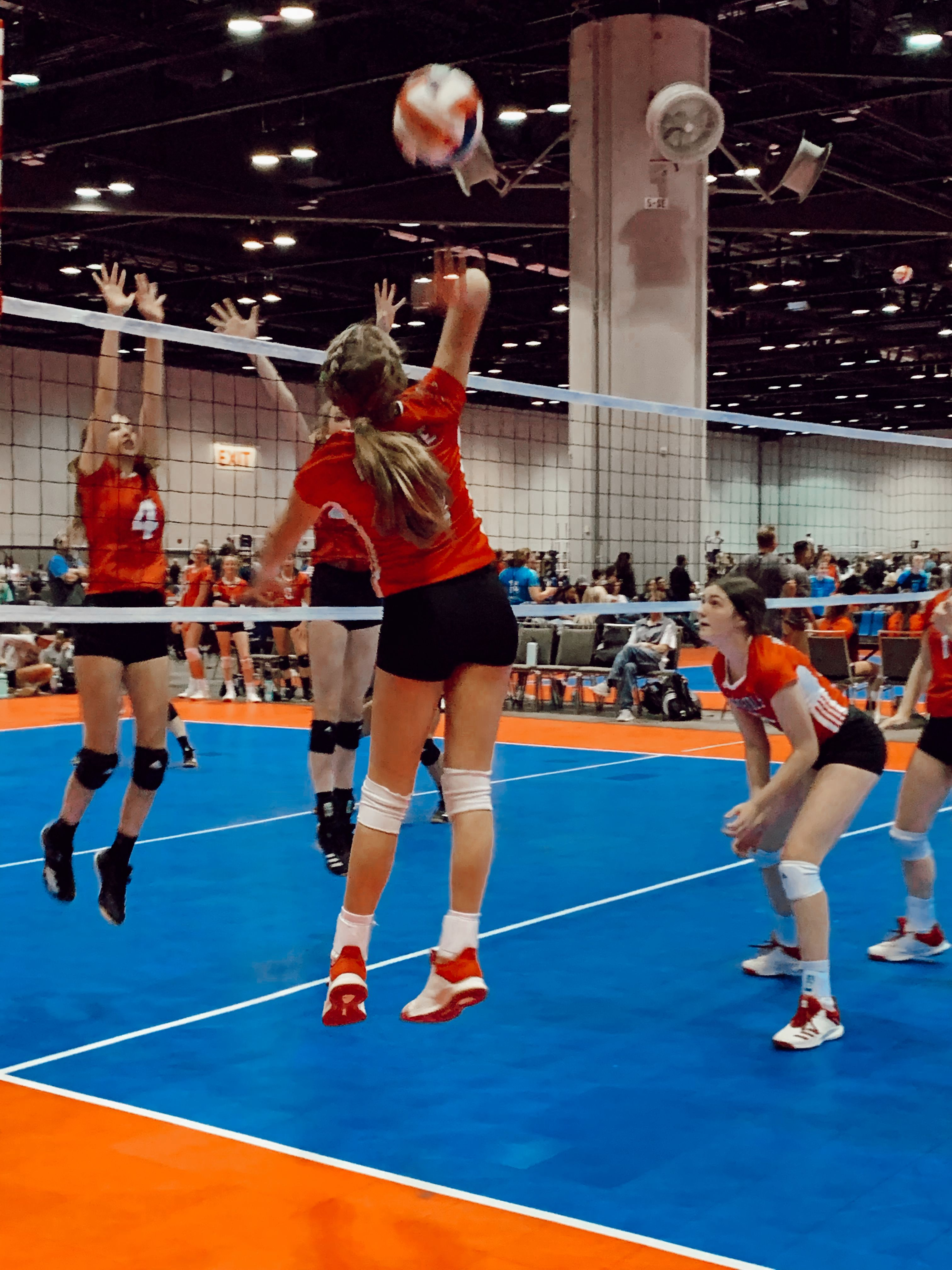 Pin By Syd On Volleyball In 2020 Volleyball Basketball Court Red River