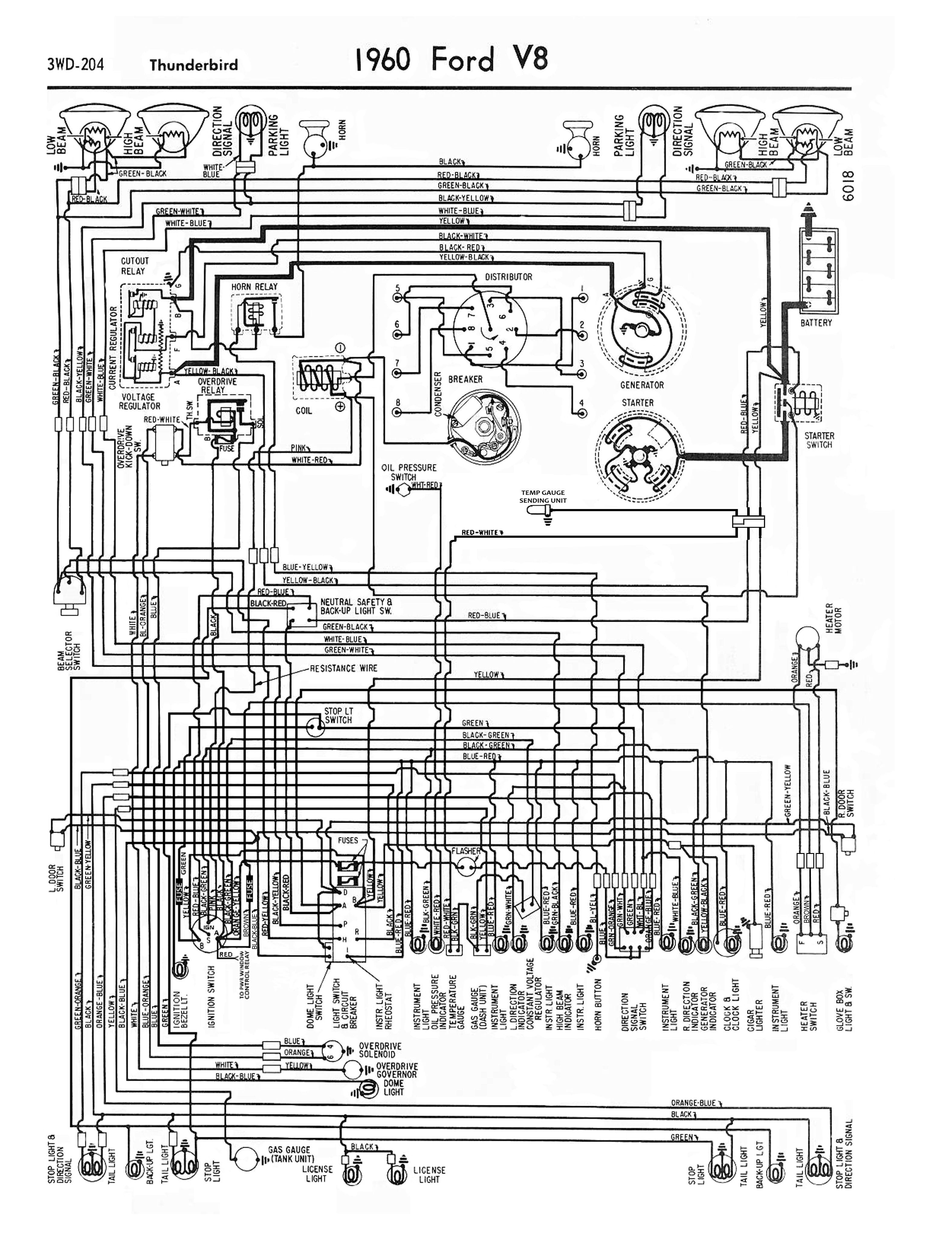 60 Tbird Wiring Diagram | Squarebird | Ford thunderbird