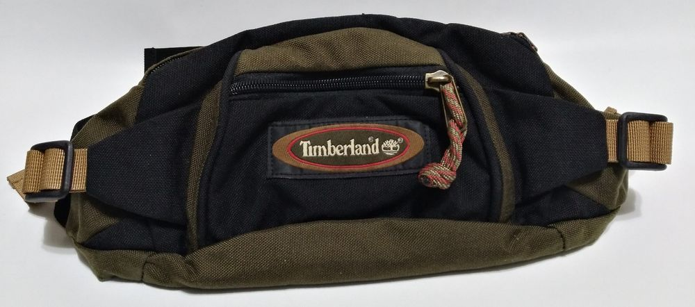 1be1ce1559e TIMBERLAND Fanny Pack Black Green Canvas Waist Bag Belt Buckle Hip Pouch Bum  Bag  Timberland  FannyWaistPack