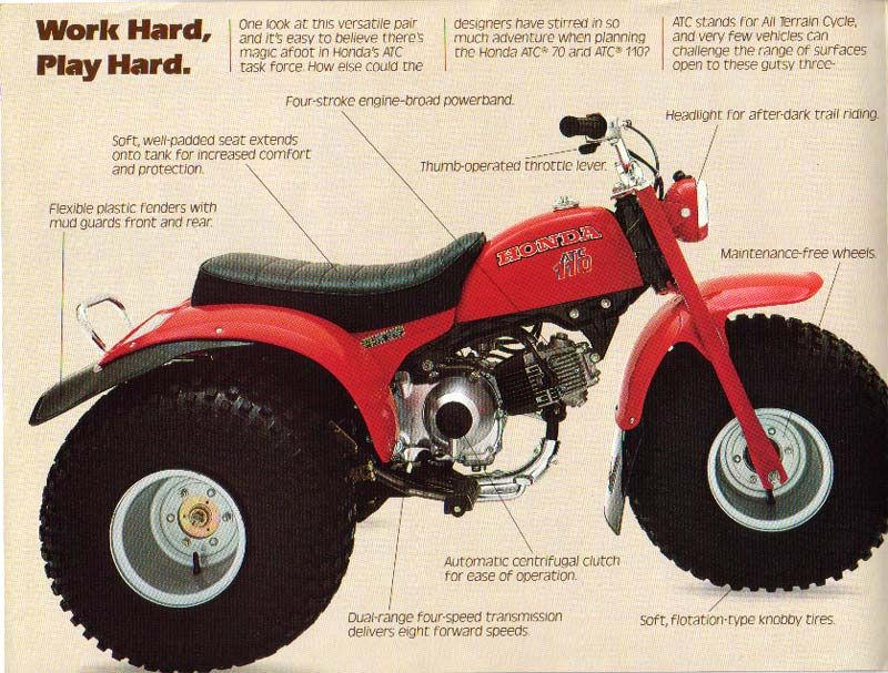 Honda ATC 110 3 Wheeler ATV   I Have Fond Memories Of Riding Through Trails  Behind My Childhood Home And At Patoka Lake In Indiana On This Amazing  Christmas ...