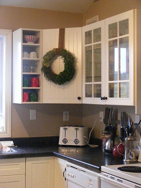 Hang Wreath On Cabinet Door By Handing Command Hook Upside