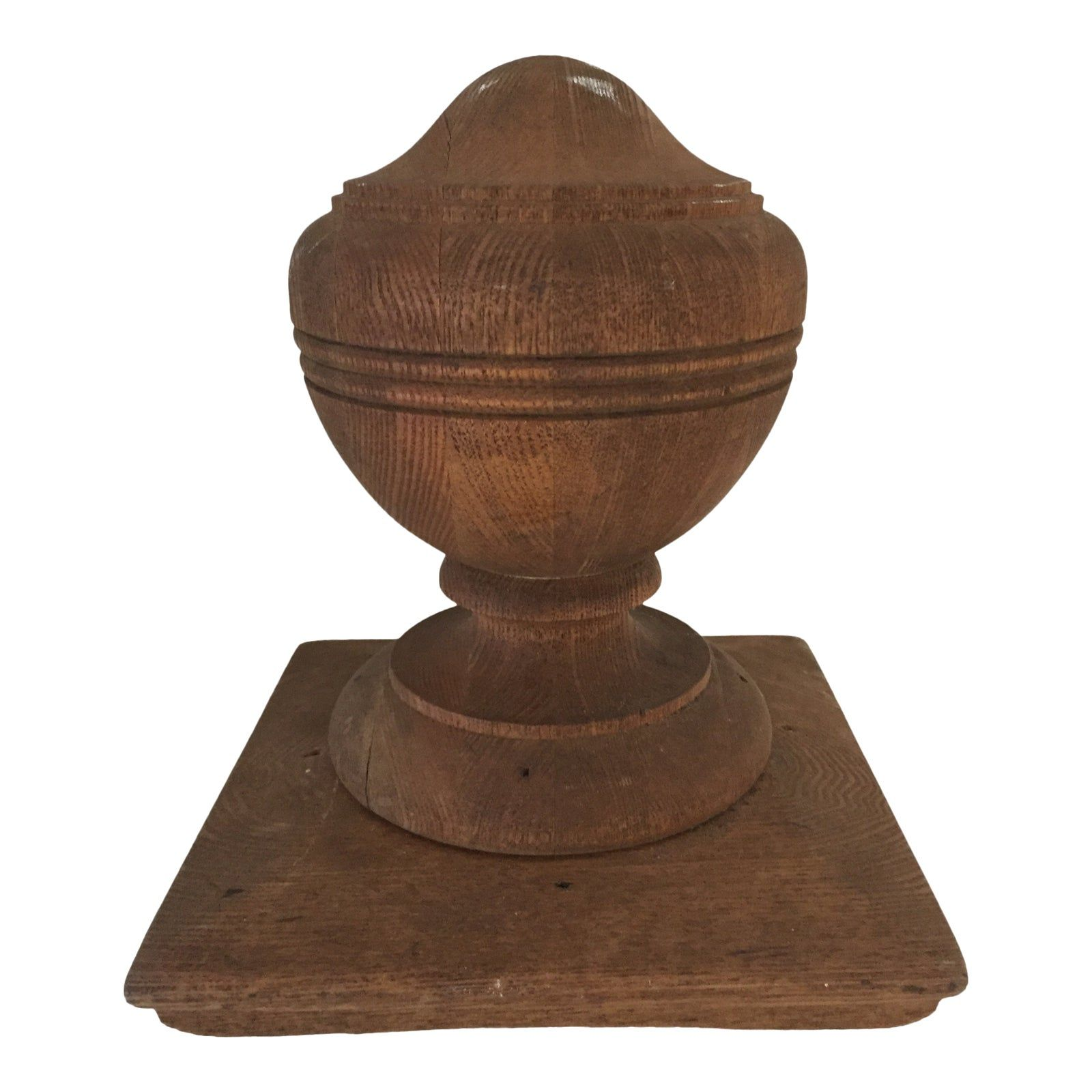 Antique Walnut Banister Turned Top Ornament Or Newel Post Top Excellent In 2020 Newel Posts Banisters Newel Post Caps