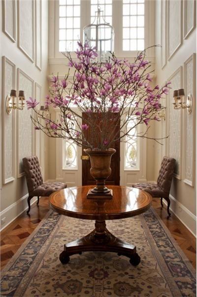 Foyer Interior Urn : Elegant traditional foyer by thomas burak decorating