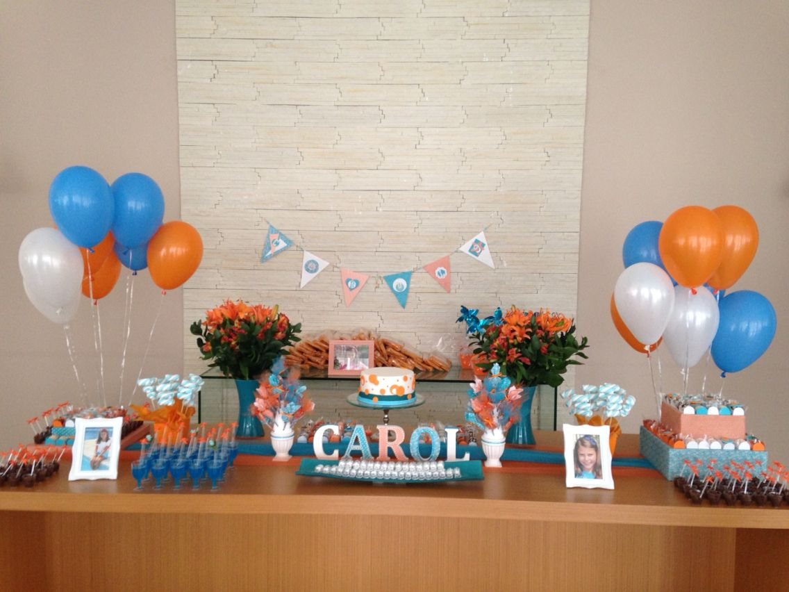 Festa azul e laranja