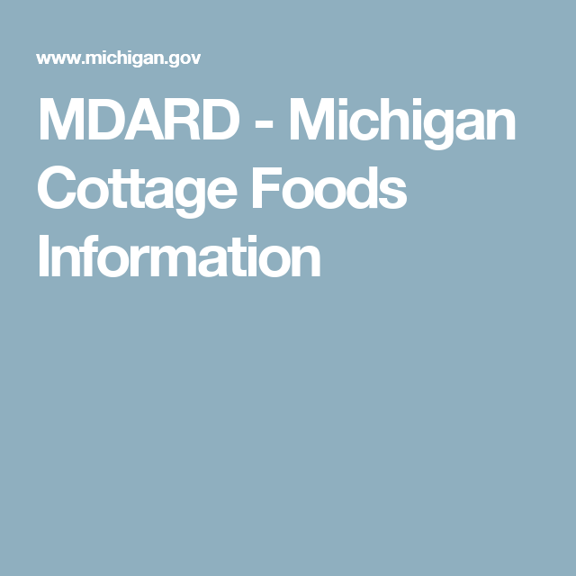 Department Of Agriculture U0026 Rural Development   The Cottage Food Law,  Enacted In Allows Individuals To Manufacture And Store Certain Types Of  Foods In An ...