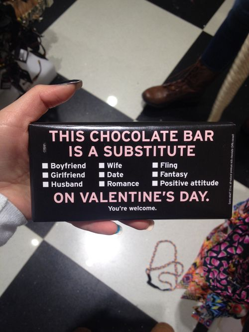 Substitute Chocolate Bar on Valentines Day | Valentines ...