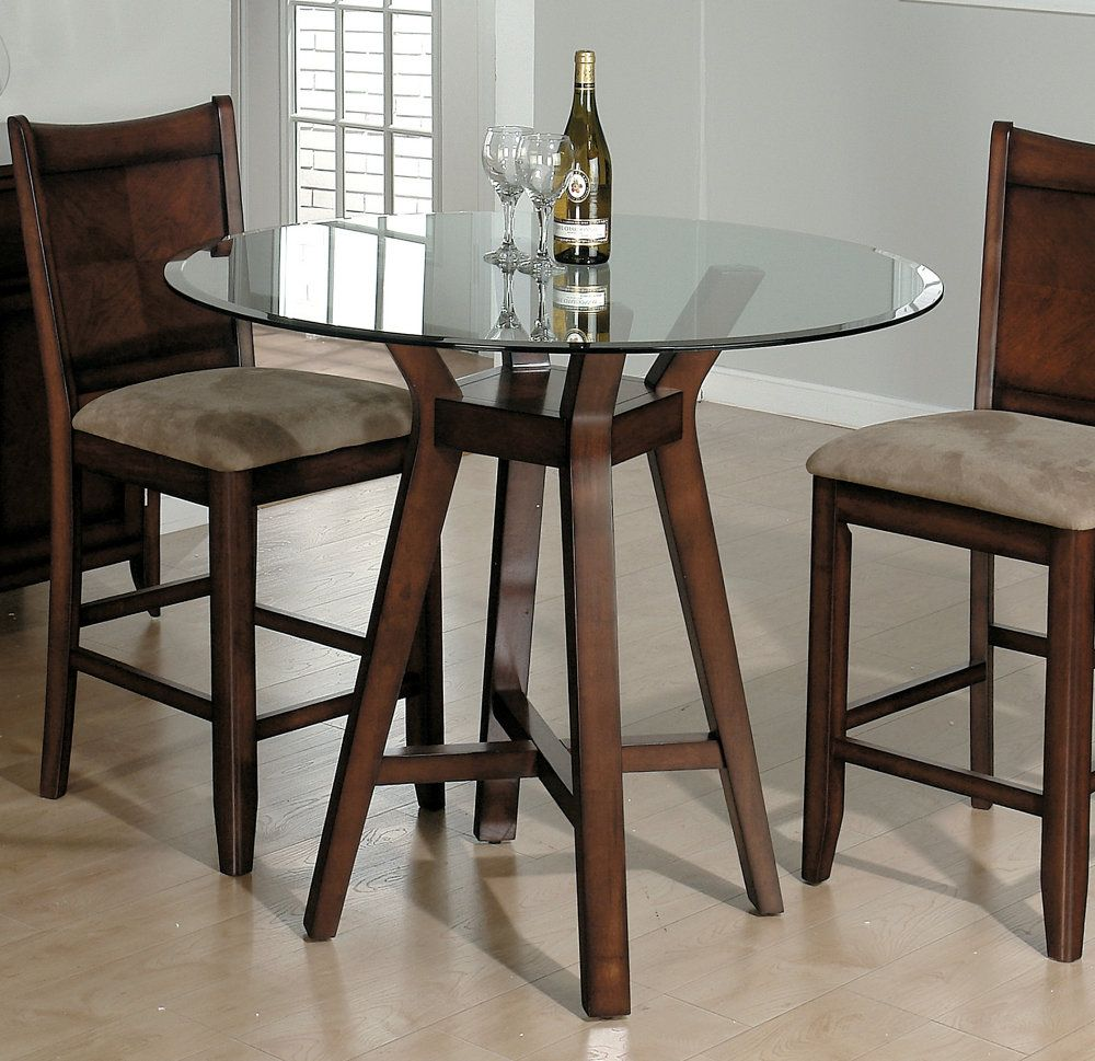 42 Glass Top Dining Table | Small round kitchen table ...