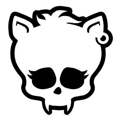 monster high skull drawings   traced the skullette onto the Shrinky ...