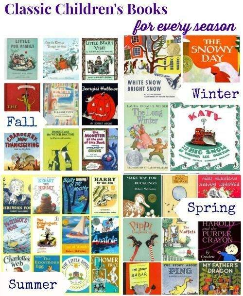 55 Timeless books for kids -- great choices for year round reading! #kidslit