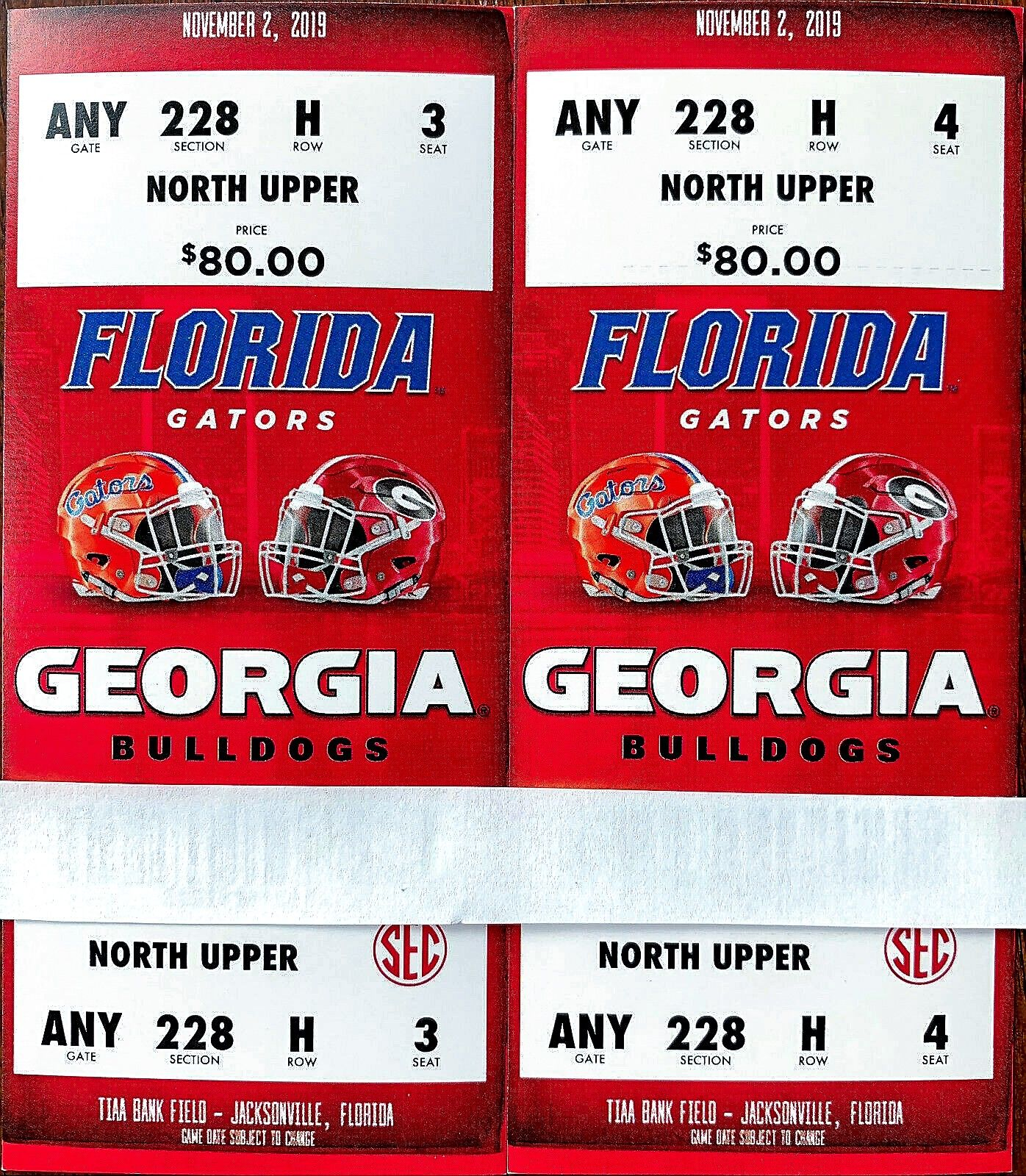 Vs. Florida (November 2, 2019) Tickets For Sale