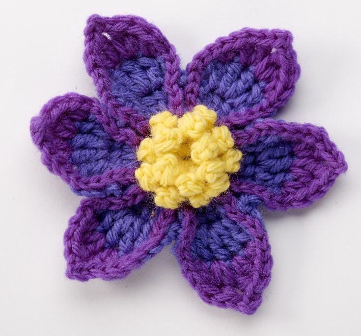 Pasque Flower - free pattern from Suzann Thompson\'s Crochet Garden ...