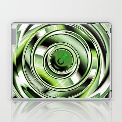 Abstract circle green Laptop & iPad Skin by Christine baessler - $25.00