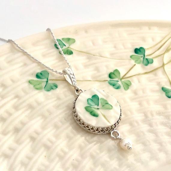 Celtic Gifts For Women Handmade Broken China Jewelry