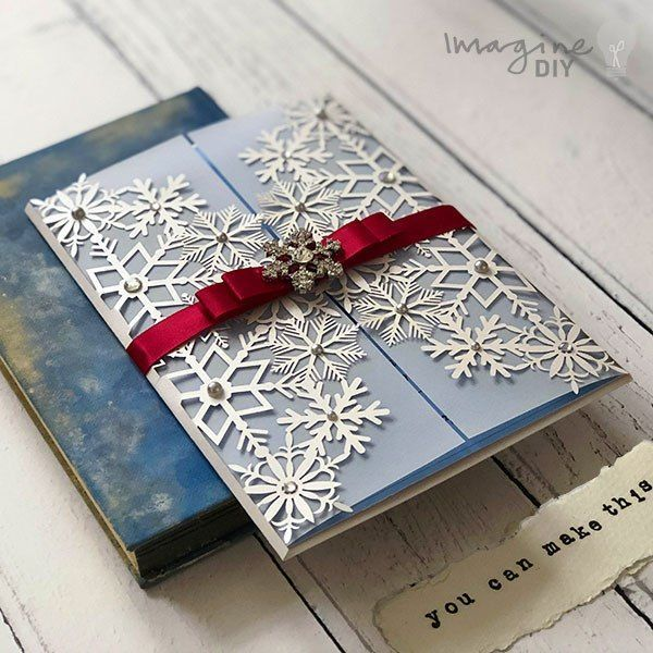 Idea To Make Your Own Winter Wedding Invitations Snowflake Theme Wedding Invites Diy Wedding Stationery Supplies