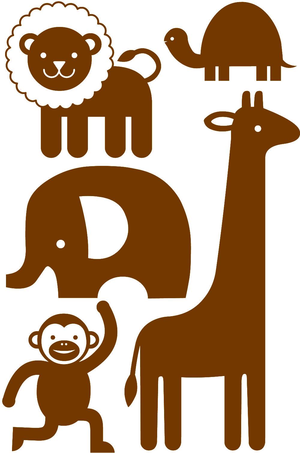 Leeuw Schildpad Olifant Aap Giraf Geboortekaartje