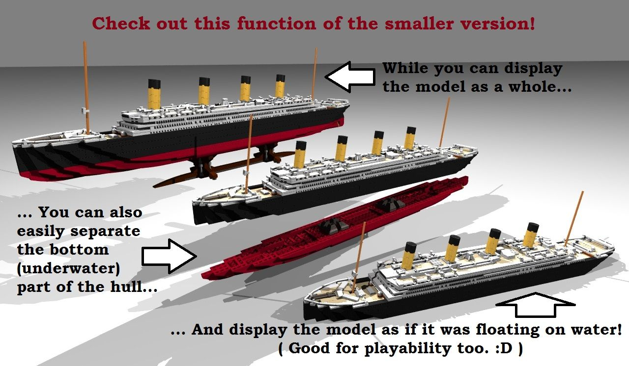 LEGO Ideas – RMS Titanic – In Review for possible production