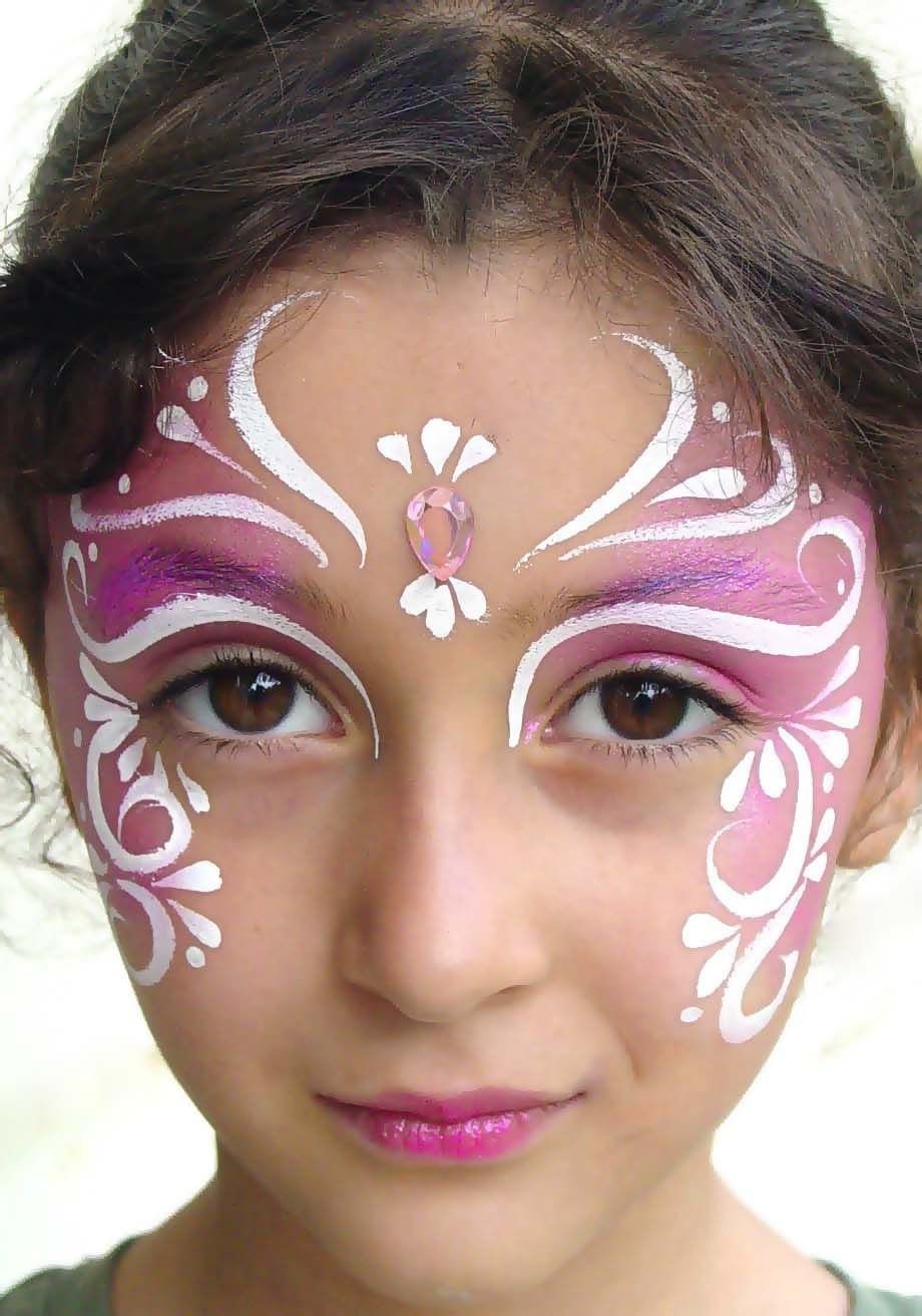 Face painting: drawings for beginners. Face painting for children 41