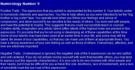 Numerology: Number 9 (Positive + Negative Traits