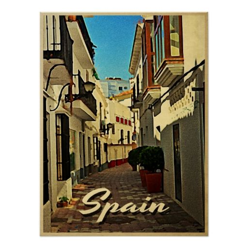 Spain Vintage Travel Print