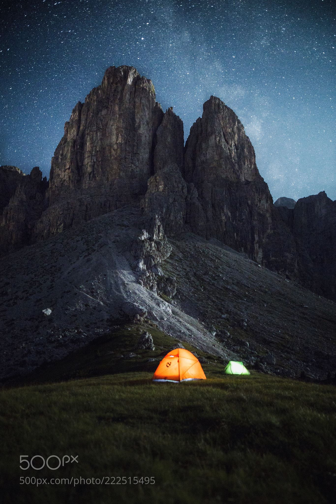 Five millions stars hotel in the Dolomites  (Lyes Kachaou / Paris / france) #Canon EOS 6D #landscape #photo #nature