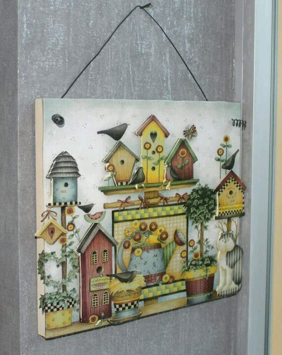 Beautiful decoupaged 3D picture. Ece Aymer Craft House, Istanbul.