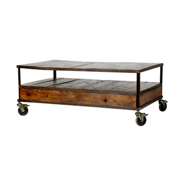 industrial coffee table (hoping my favorite BF can make something - copy rustic blueprint art