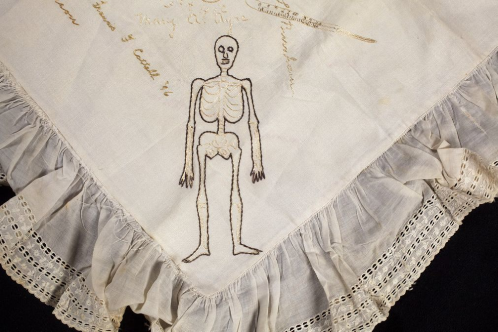 In the 1890s, Female Medical Students Embroidered a Yearbook on a Pillow Sham #medicalstudents