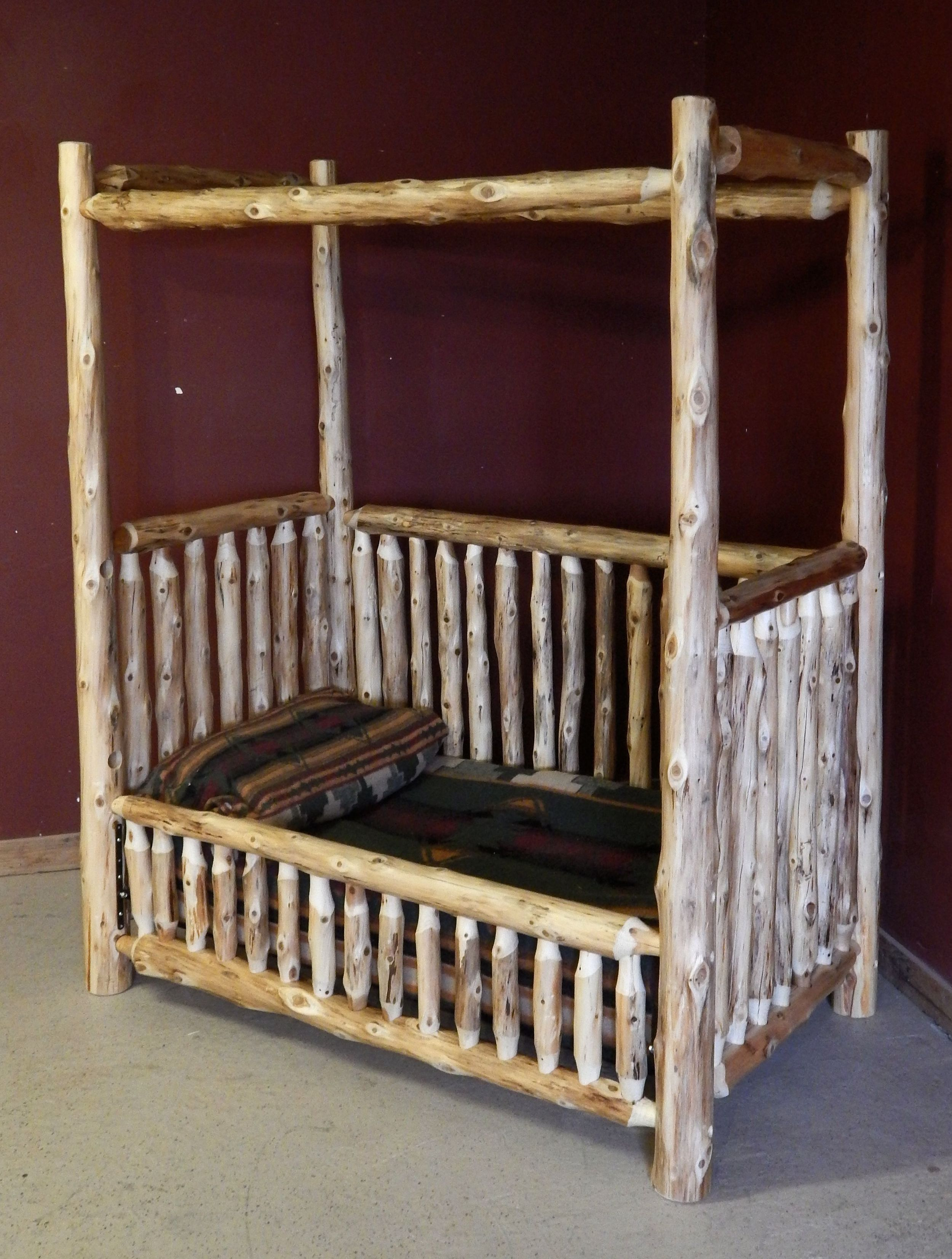 rustic canopy convertible log baby crib rustic nursery on home depot paint sales this week id=82076