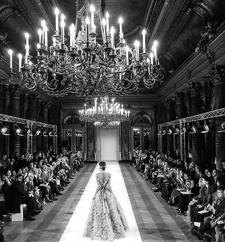 "runwayandbeauty: "" Atmosphere at Yanina Couture Spring 2016. """