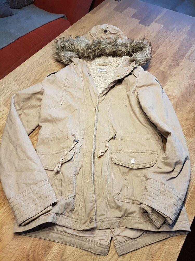 6a82cdba030eea Pimkie Jacke Beige 34 mit Kapuze z.T. gefüttert Mädchen Damen Longjacke  #fashion #kleidung #
