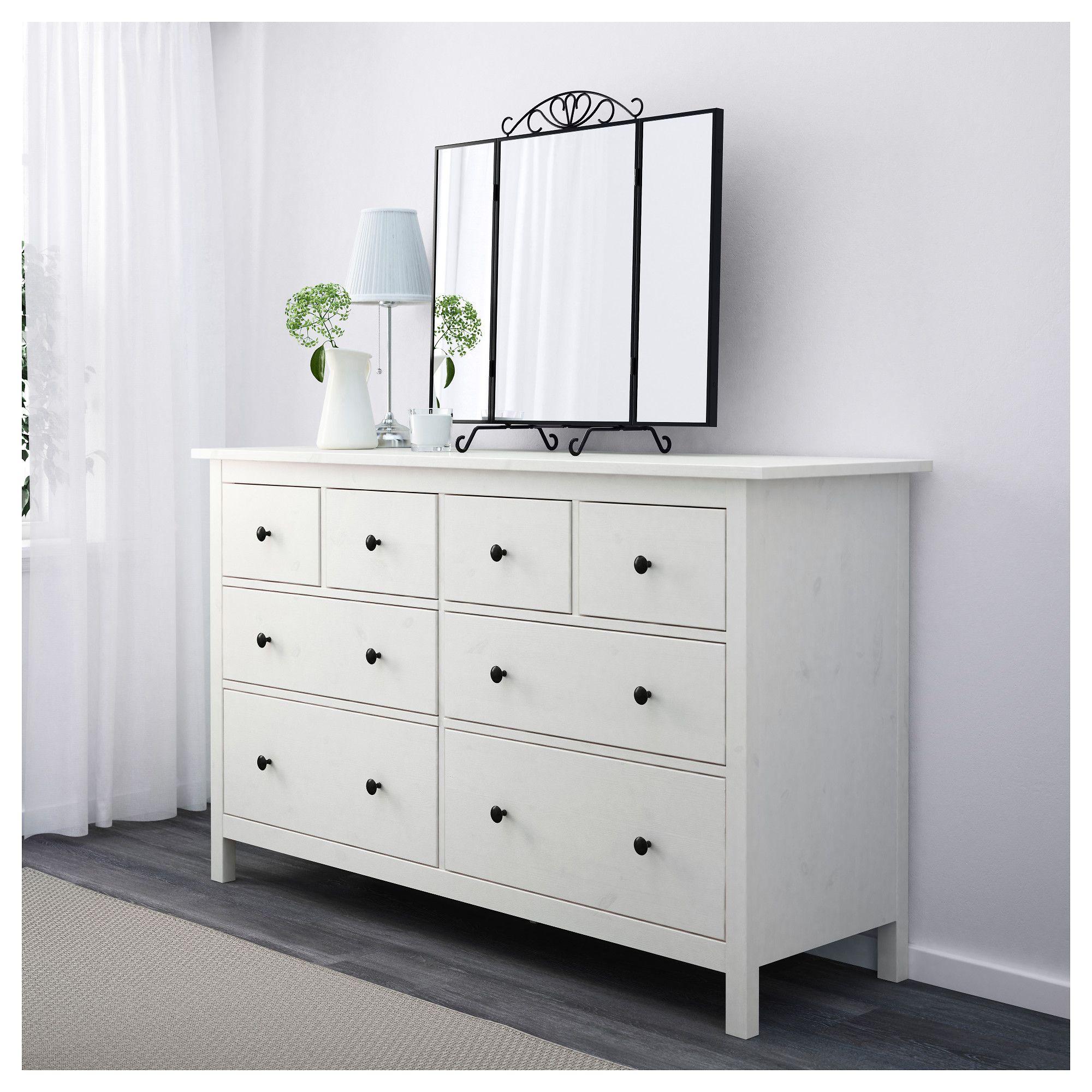 HEMNES Chest of 8 drawers White stain IKEA Ikea 8 drawer