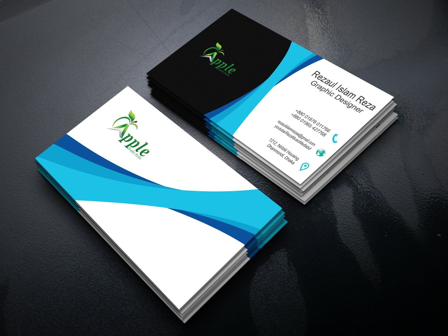 Visitenkarten Design Wort Auch Business Card Design Ai In