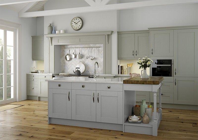 Clarkwell With Sage Light Grey 1 Jpg 800 566 Grey Kitchen