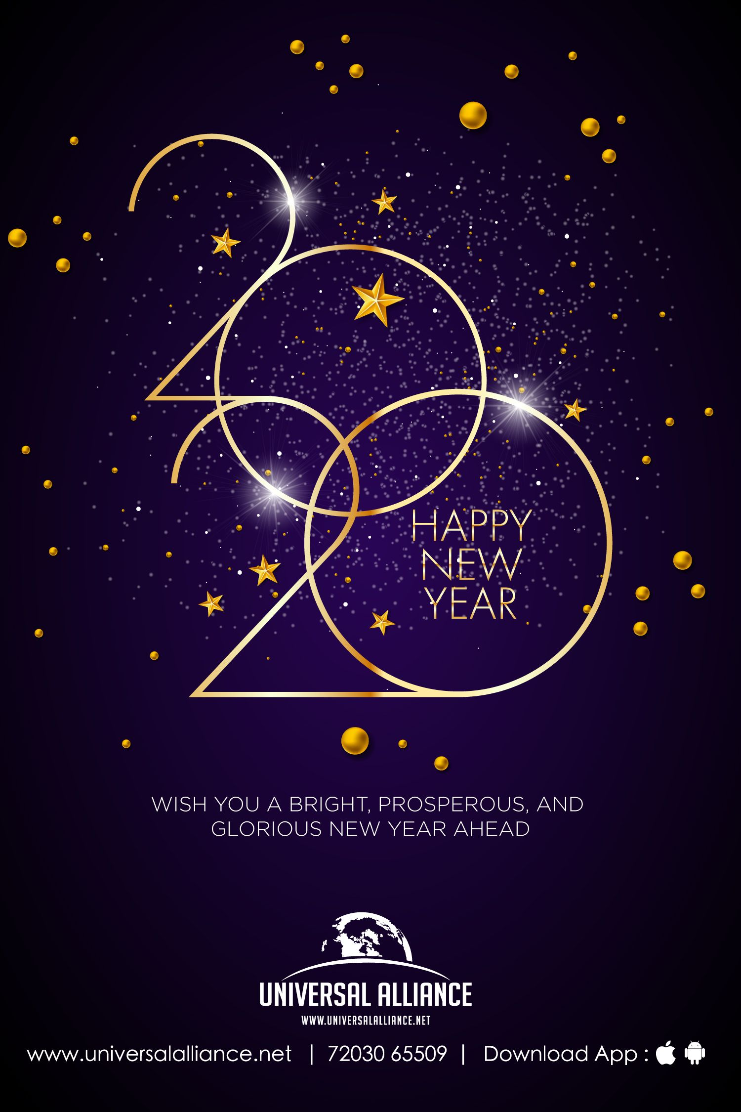 Wish you a bright, prosperous, and glorious NewYear ahead