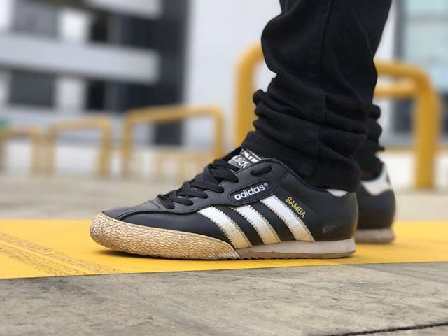 adidas samba nero yellow