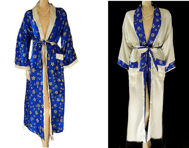 ORIENTAL ASIAN REVERSIBLE ROYAL BLUE 4cbe5c01d