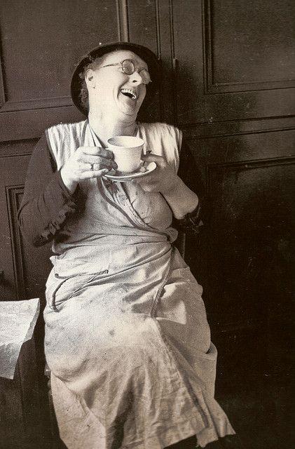 Lady drinking tea, or is it me?