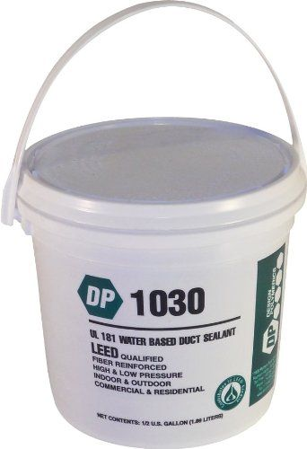 Design Polymerics 1030 Water Base Duct Mastic Sealant Pail 0 50 Gallon Sealant Duct Air Duct
