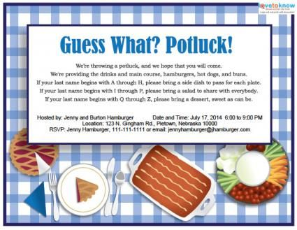 Office Potluck Invitation | Click to download and customize this ...