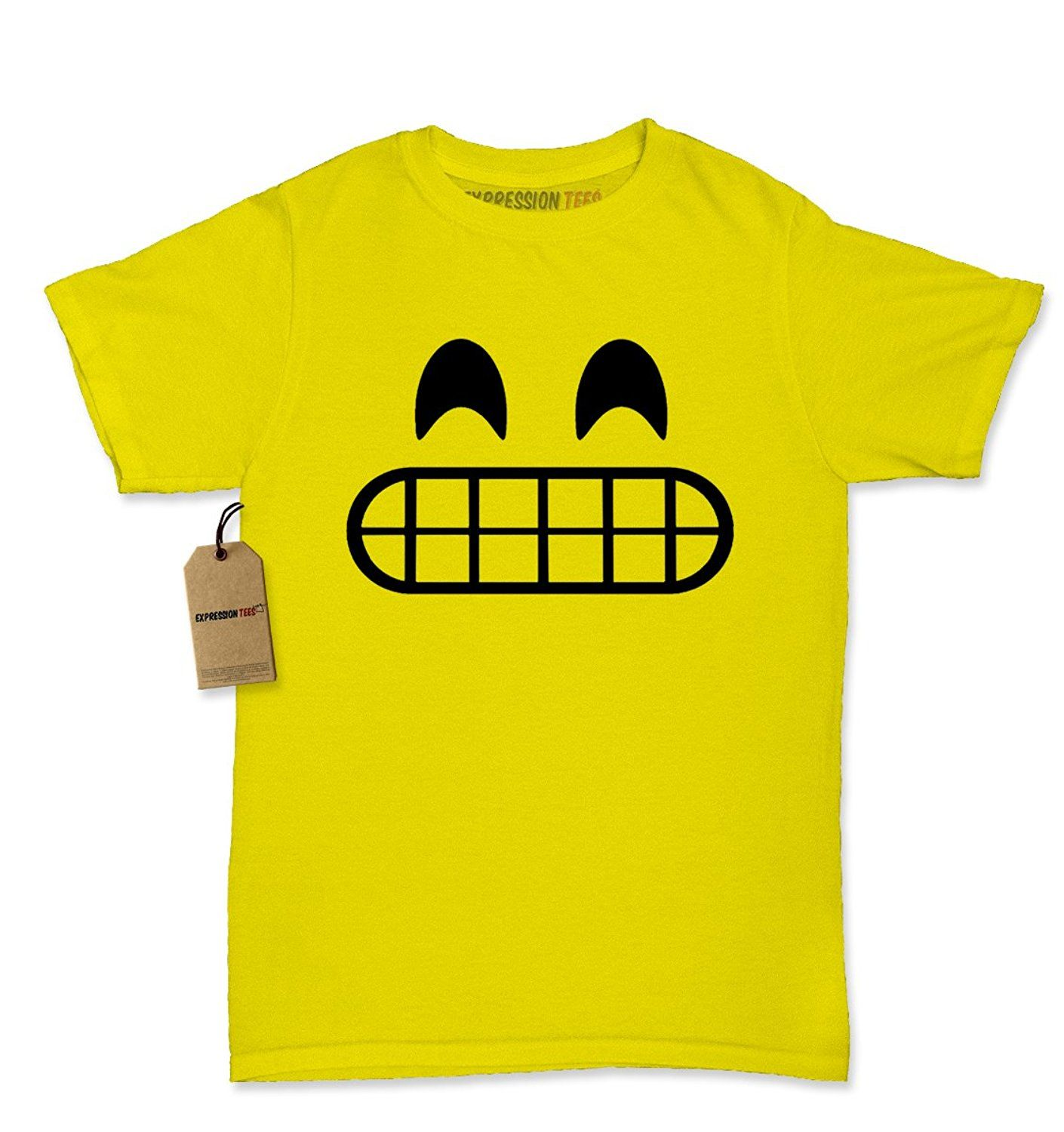 Amazon.com: Expression Tees Emoticon Smiley Face Emoticon Womens T-shirt Collection: Clothing