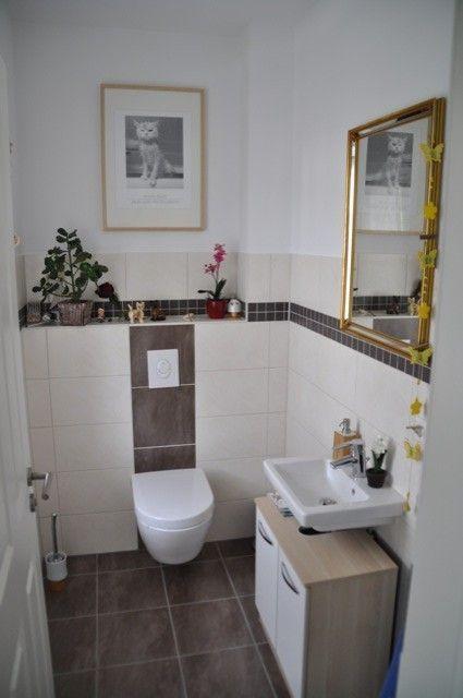 Gäste-WC weiß grau Home Pinterest Wc design, Bathroom designs