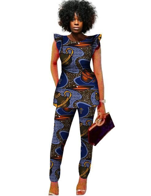 1000 Images About African Print 2 Piece Outfit On: 2 Piece Sets Women African Print Dashiki Top And Pants