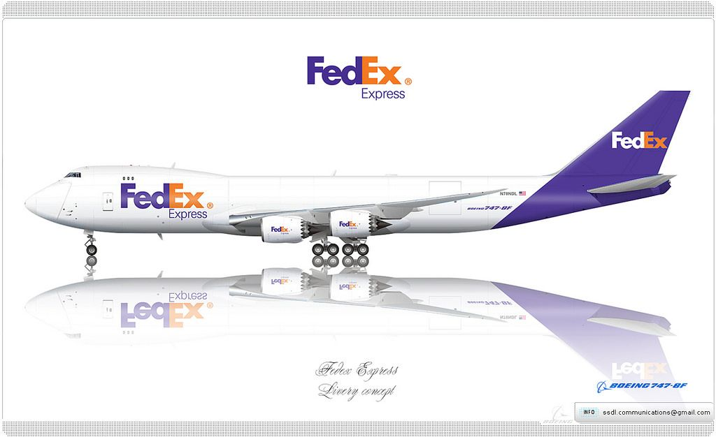 Fedex Livery Concept Fedex Express Airline Logo Boeing 747
