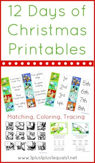 12 Days Of Christmas Printables 1 1 1 1 Christmas Printable Templates Christmas Sunday School 12 Days Of Christmas