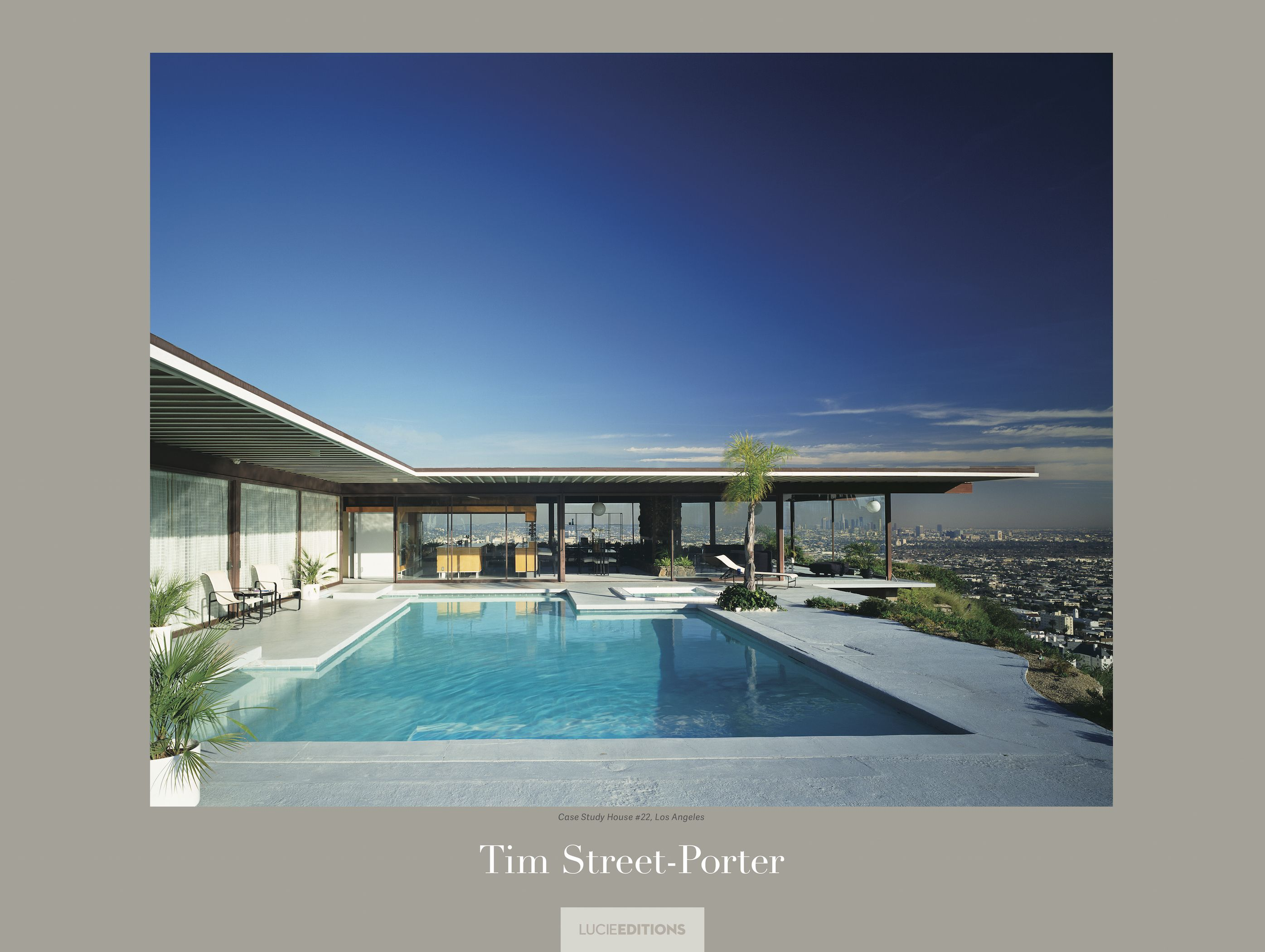 "Signed ""Case Study House #22, Los Angeles"" by Tim Street Porter - LUCIE STORE"