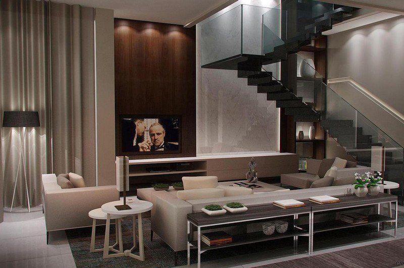 Salon marron beige \u2013 57 idées chouettes pour votre appartement in