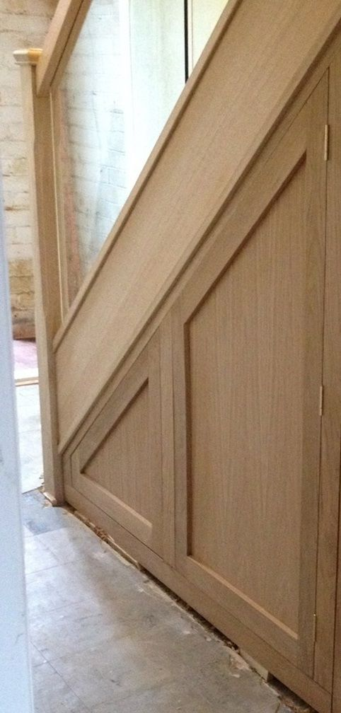 Idea for under stairs cupboard 2 doors hinged together for Door under stairs