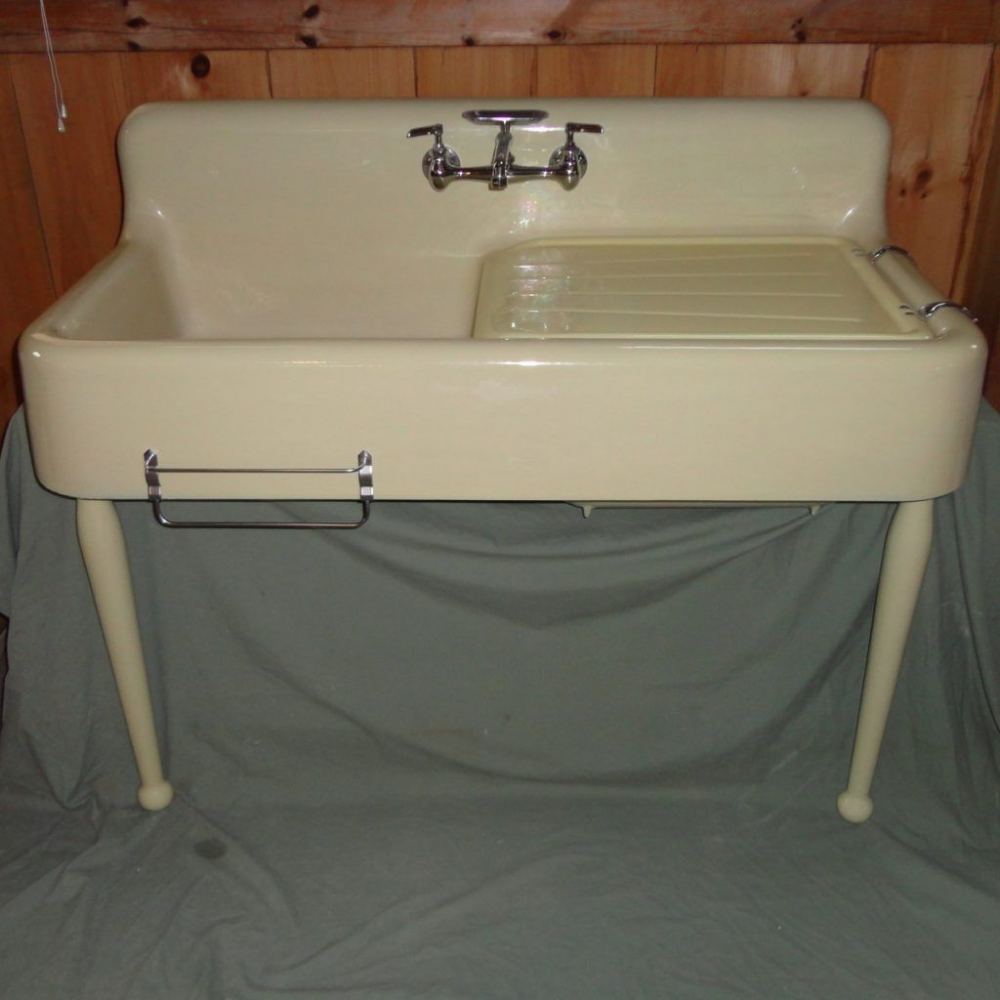 farmhouse kitchen sink with legs
