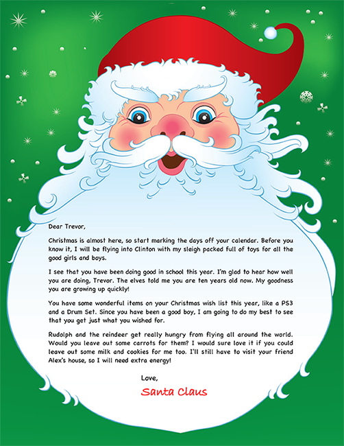Personalized Santa Letter  Lmfao    Personalised Santa