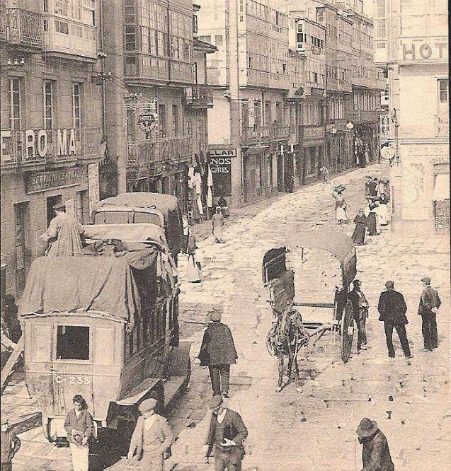 La Ferrocarrilana En La Rúa Nueva Imagenes De Santiago Fotos De León Fotografía Antigua